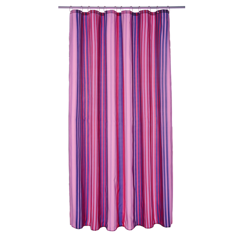 Shower Curtain Berry Stripes
